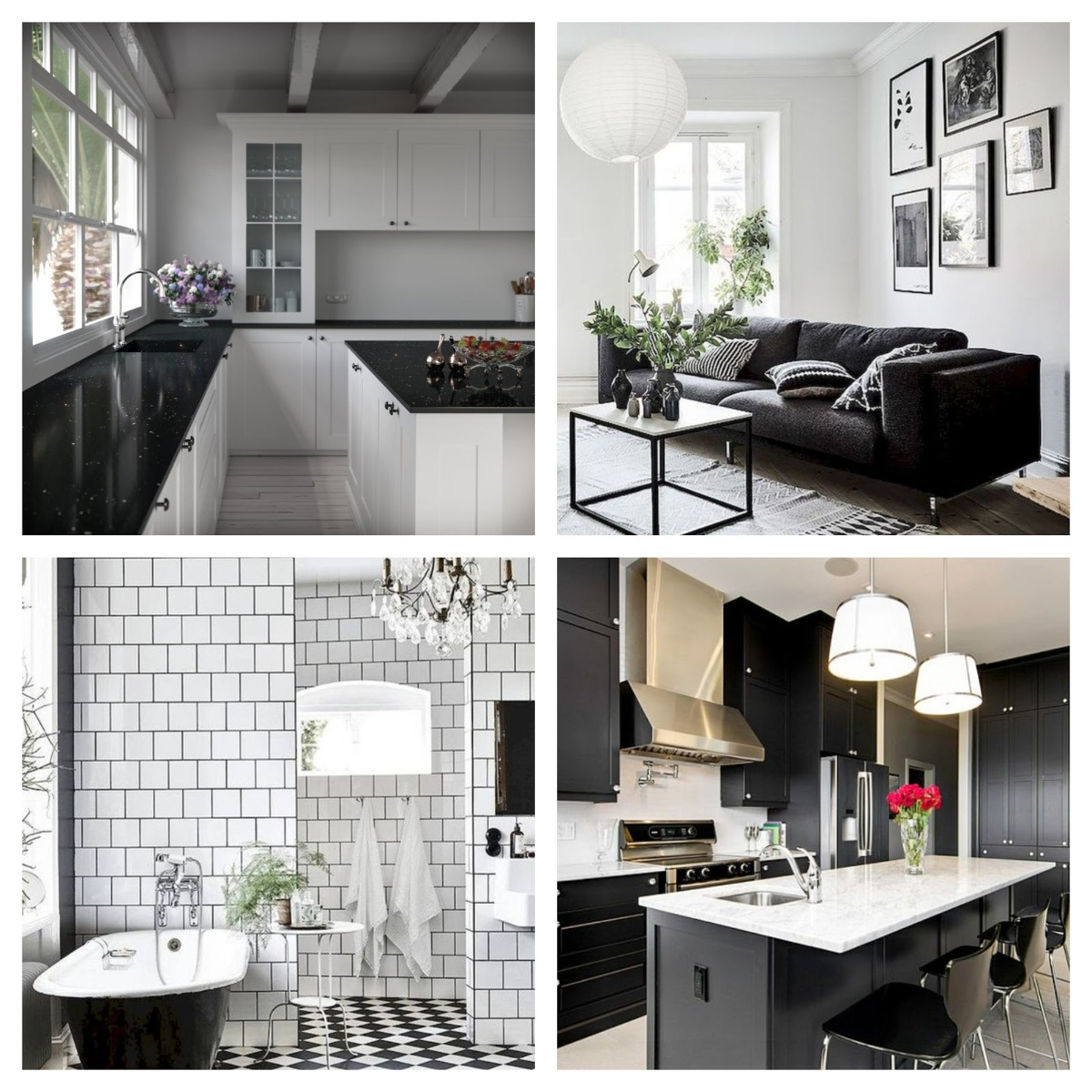 Black and White Furnishings