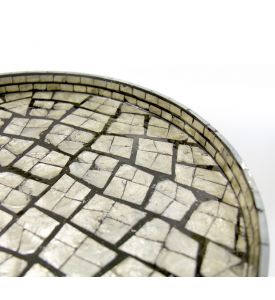Mother of Pearl Inlay Round Tray