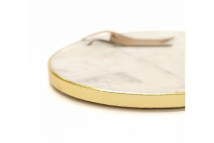 Gold Edged Marble Serving Platter