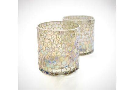 Honeycomb Glass Candle Holders