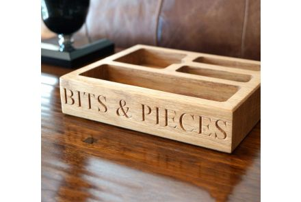 Personalised Wooden Desk Tidy