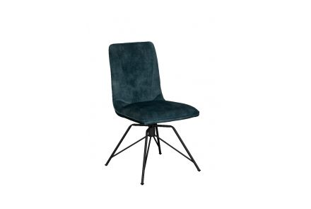 Lola Dining Chair (Teal Velvet)