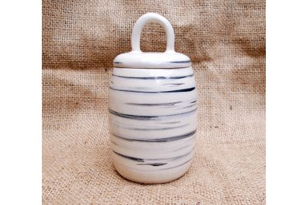 Feather Striped Jar