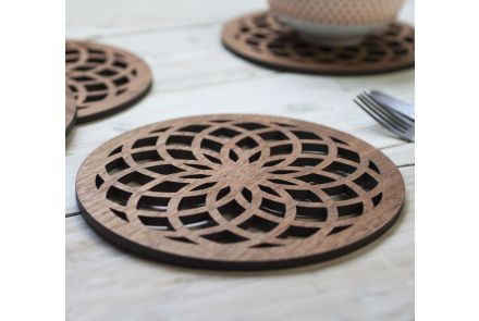 Flower of Life Coaster Set