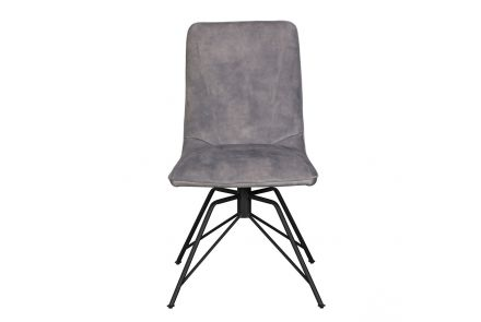 Lola Dining Chair (Grey Velvet)