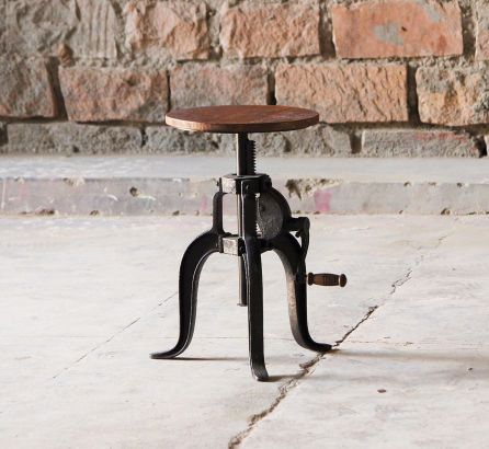 Hyatt-Fulton Adjustable Height Stool