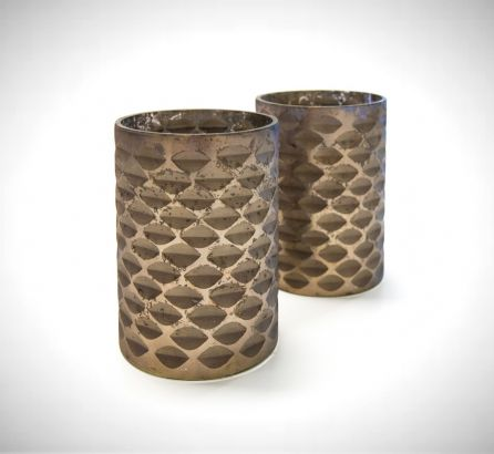 Tall Bronze Candle Holder
