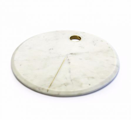Large Gold Detailing Marble Serving Platter