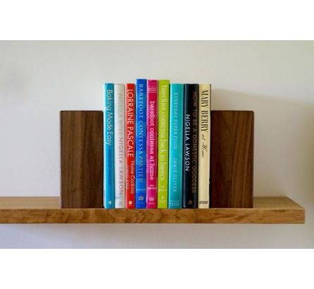 Solid Oak Wooden Bookends