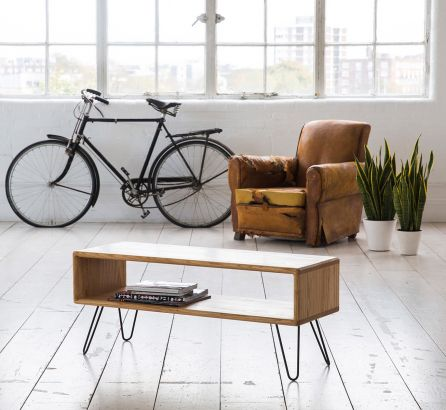 Credenza with Hairpin Legs - Ash