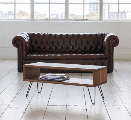 Credenza with Hairpin Legs - Walnut