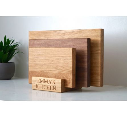 Wooden Chopping Board Set with Stand