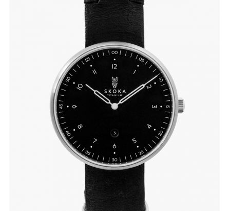 Black Brushed Titanium Watch