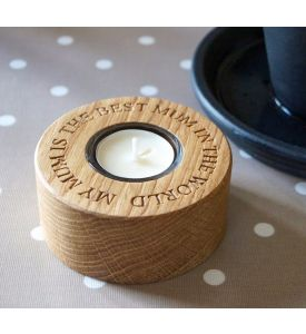 Personalised Wooden Single Tea Light Holders