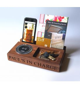 Wooden Wireless Smartphone Charger Tray