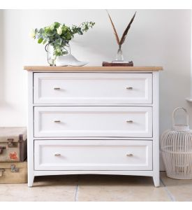 Grasmere 3 Drawer Bedside