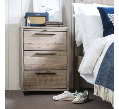 Calais 3 Drawer Bedside Chest