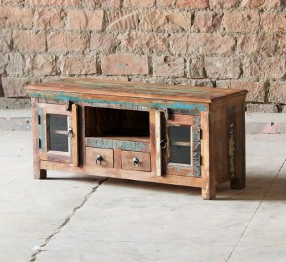 Mary Rose Reclaimed 2 Drawer 2 Door TV Unit