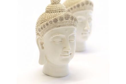 Cream Buddha Head