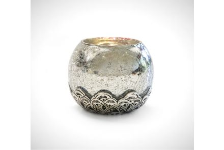 Silver Antique Tealight Holder