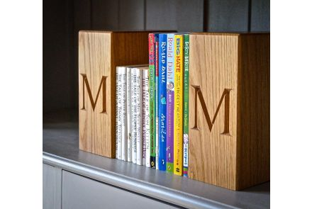 Personalised Wood Bookends