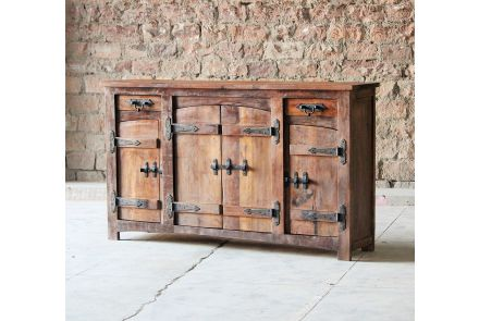 Rustica Reclaimed 2 Drawer 4 Door Sideboard