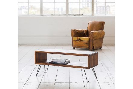 Credenza with Hairpin Legs - Iroko