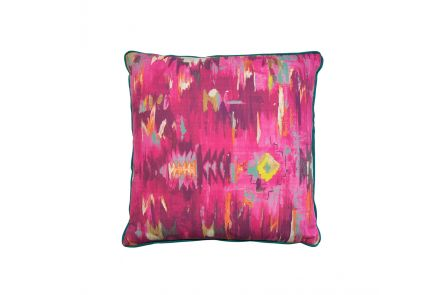 Abstract Pink and Teal Cushion