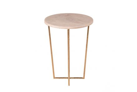 Whitby Brass and Marble Side Table