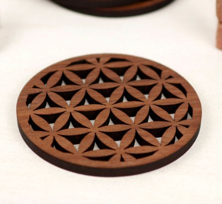Seed of Life Coaster Set