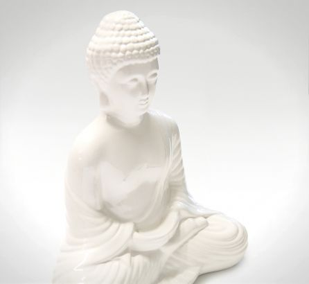 White Peaceful Buddha