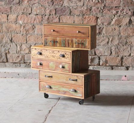 Shimla Reclaimed 6 Multi-Drawer Chest