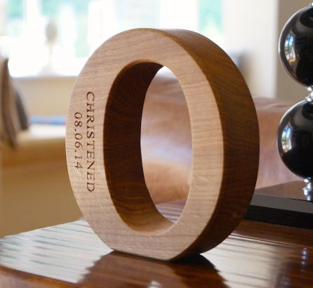 Engraved Wooden Alphabet Letters