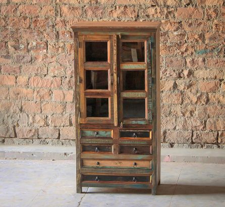 Mary Rose Upcycled 6 Drawer 2 Door Dresser