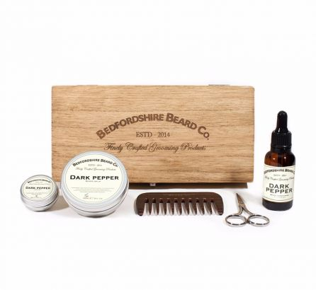 Deluxe Beard Grooming Gift Set - Dark Pepper