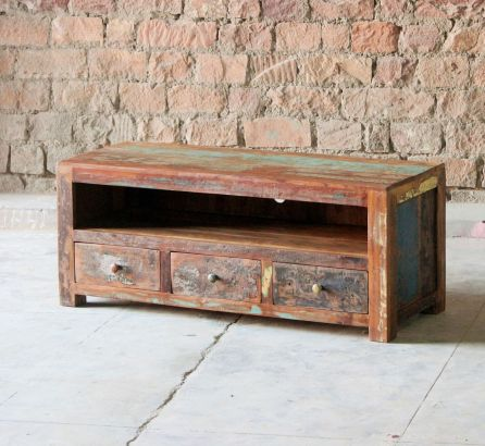 Mary Rose Reclaimed 3 Drawer TV Unit