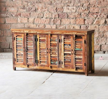 Mary Rose Reclaimed 6 Door Sideboard