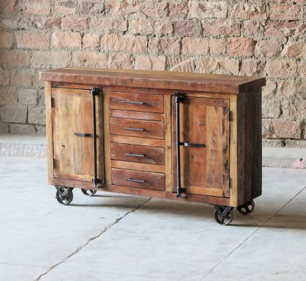 Hyatt - Canning Industrial Sideboard on Wheels