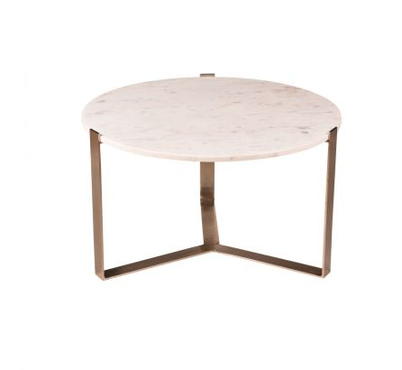 Nola Nikkel and Marble Coffee Table