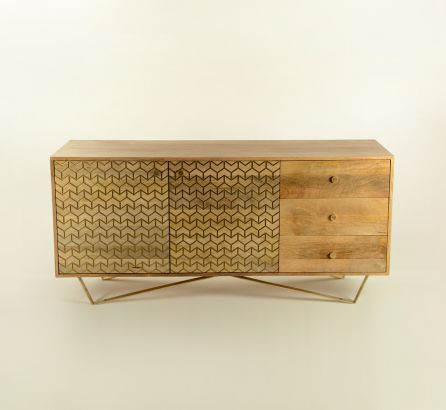Shilp 3-Drawer 2-Door Side Table