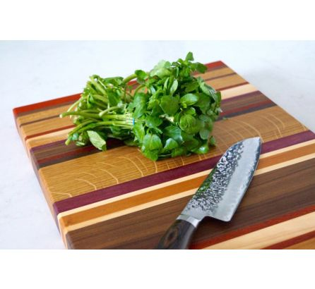 Multi Colour Stripe Wooden Chopping Boards