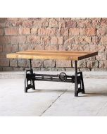 Hyatt Industrial Adjustable Coffee/Dining Table