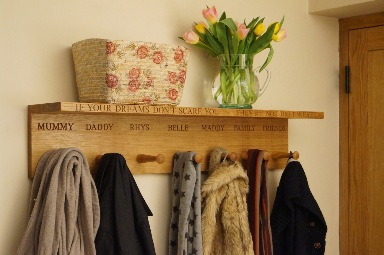 Coat Hooks With Hat Shelf | AO Home