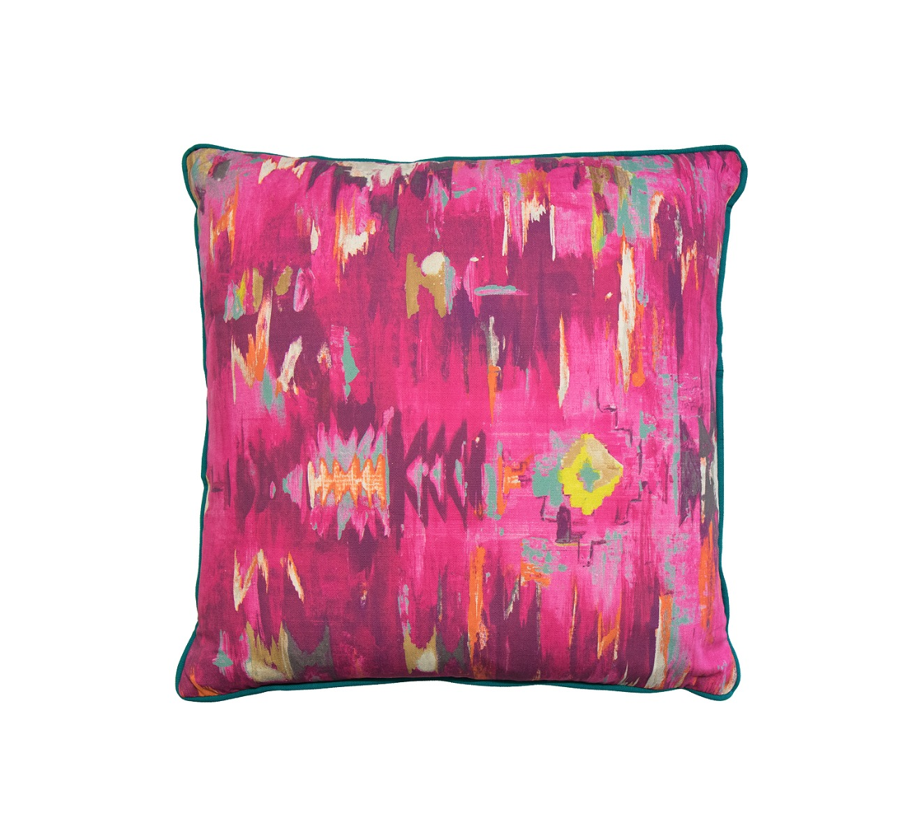 Cosy Home Office: Abstract Pink And Teal Cushion