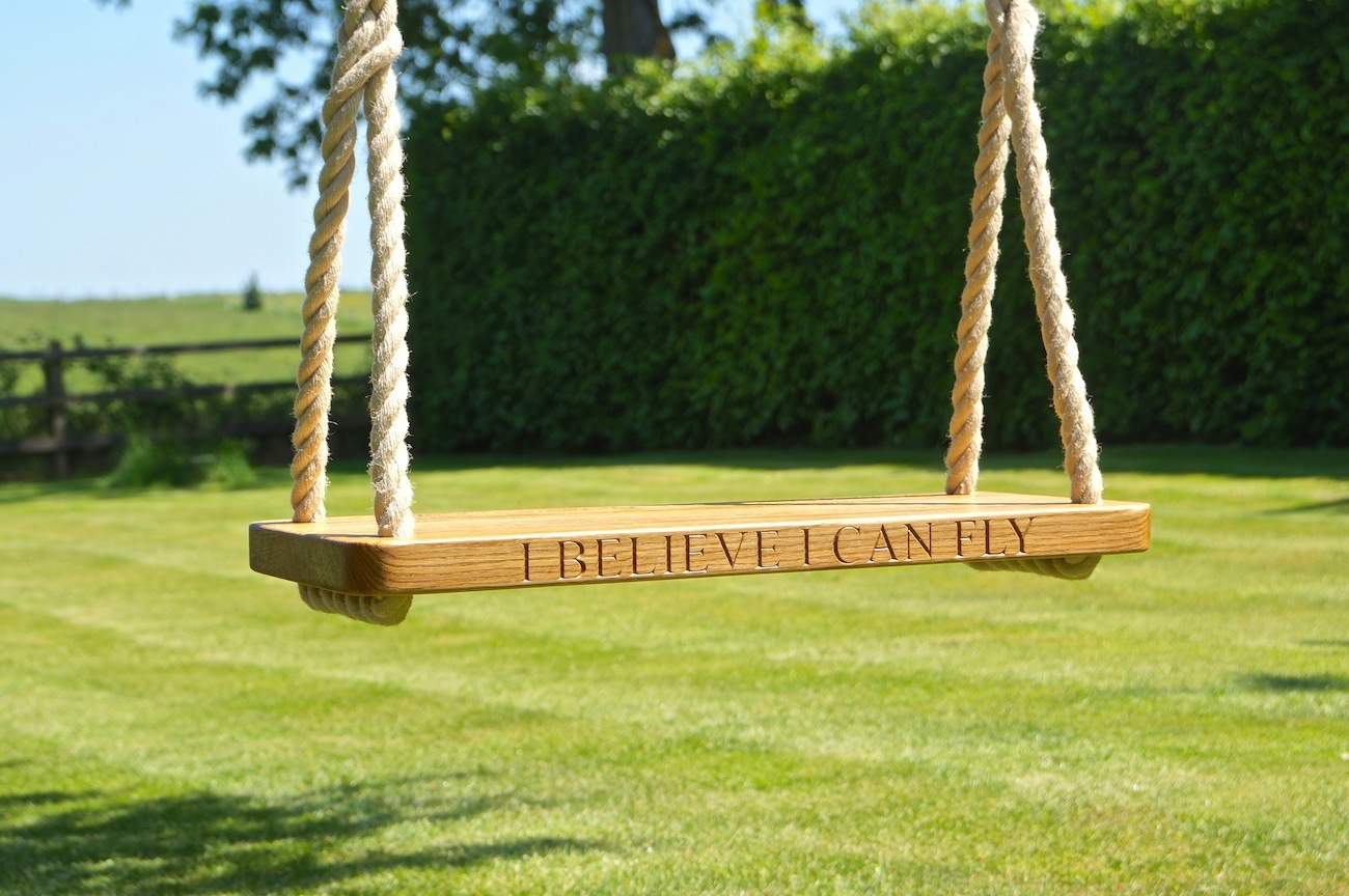 indoor outdoor seat hanging swing with item wooden height leadingstar strong rope classic for adjustable