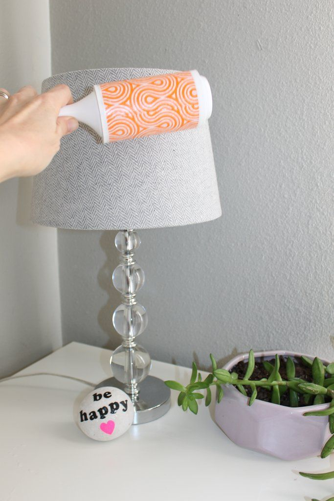 Lint Rolling Lampshades