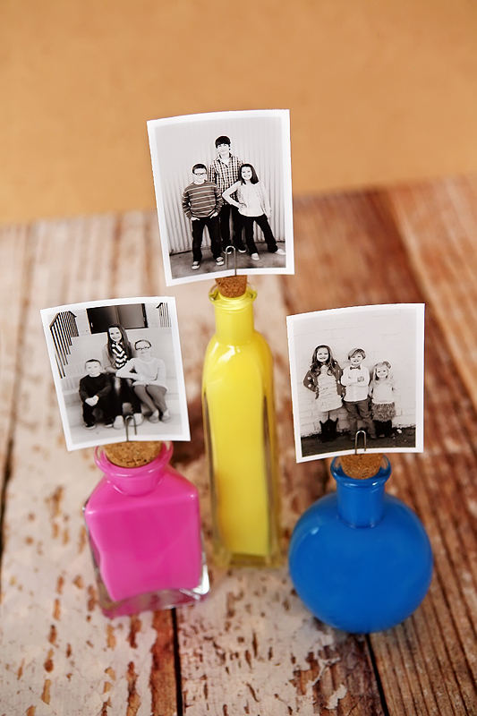 Colourful Bottle Photo Frames