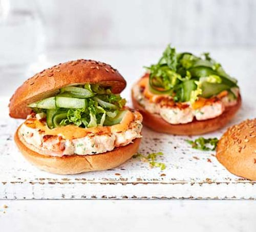 Prawn Salmon Burger
